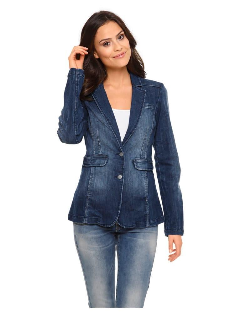 blazer jean femme une veste avoir sous la main. Black Bedroom Furniture Sets. Home Design Ideas