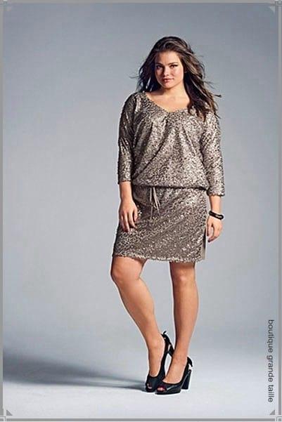 robe de soir e pour femme ronde tre belle quelle que soit sa morpho. Black Bedroom Furniture Sets. Home Design Ideas