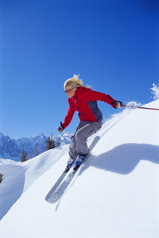 Un baton de ski pour les vacances