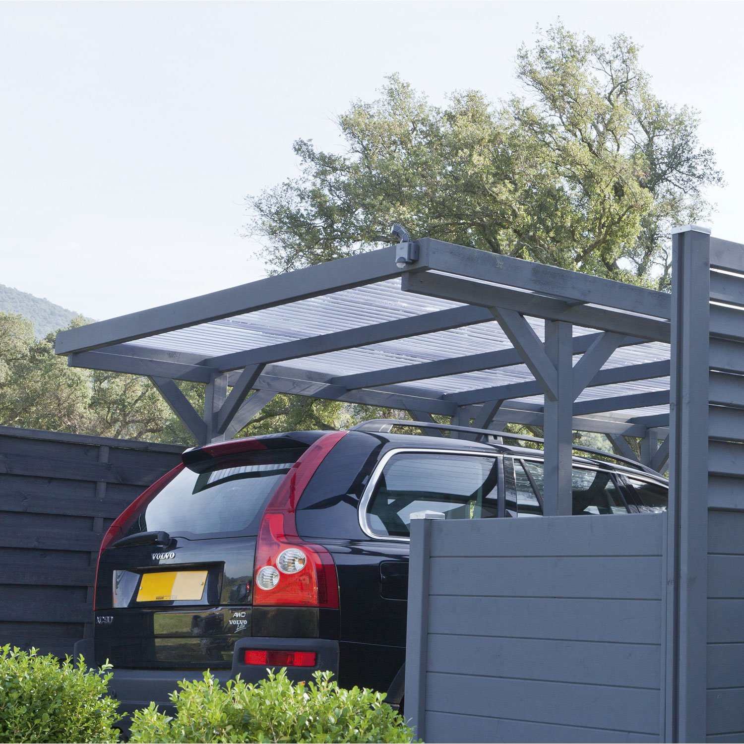 Carport aluminium leroy merlin for Abri garage castorama