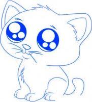 dessin de chat facile