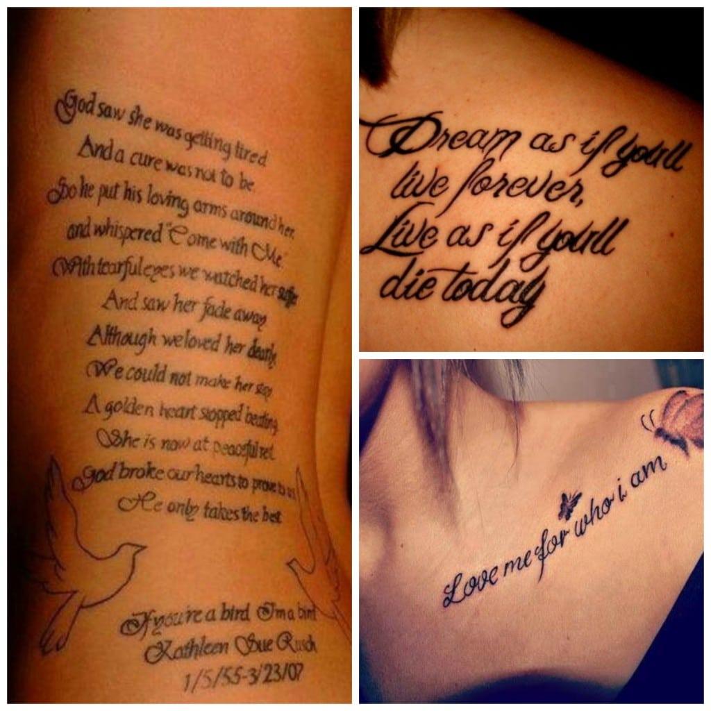 Exemple phrase tatouage - Tatouage famille homme ...