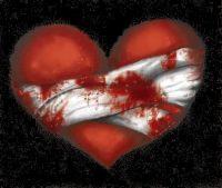 image coeur blessé
