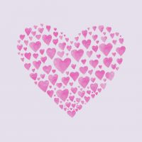 image coeur rose