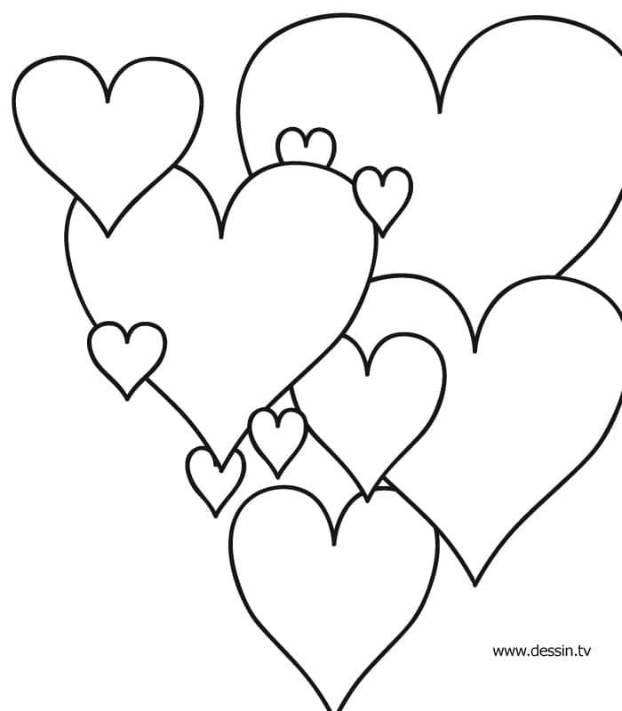 Image de coeur a colorier - Image de coeur a colorier ...