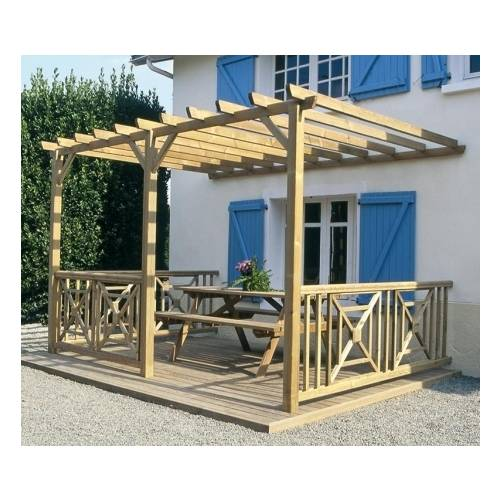 construire sa pergola bois comment construire une pergola en bois brut pour le jardin with. Black Bedroom Furniture Sets. Home Design Ideas