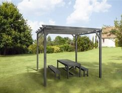 pergola bois brico depot. Black Bedroom Furniture Sets. Home Design Ideas