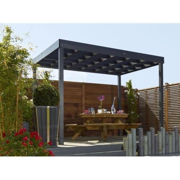 pergola en dur. Black Bedroom Furniture Sets. Home Design Ideas