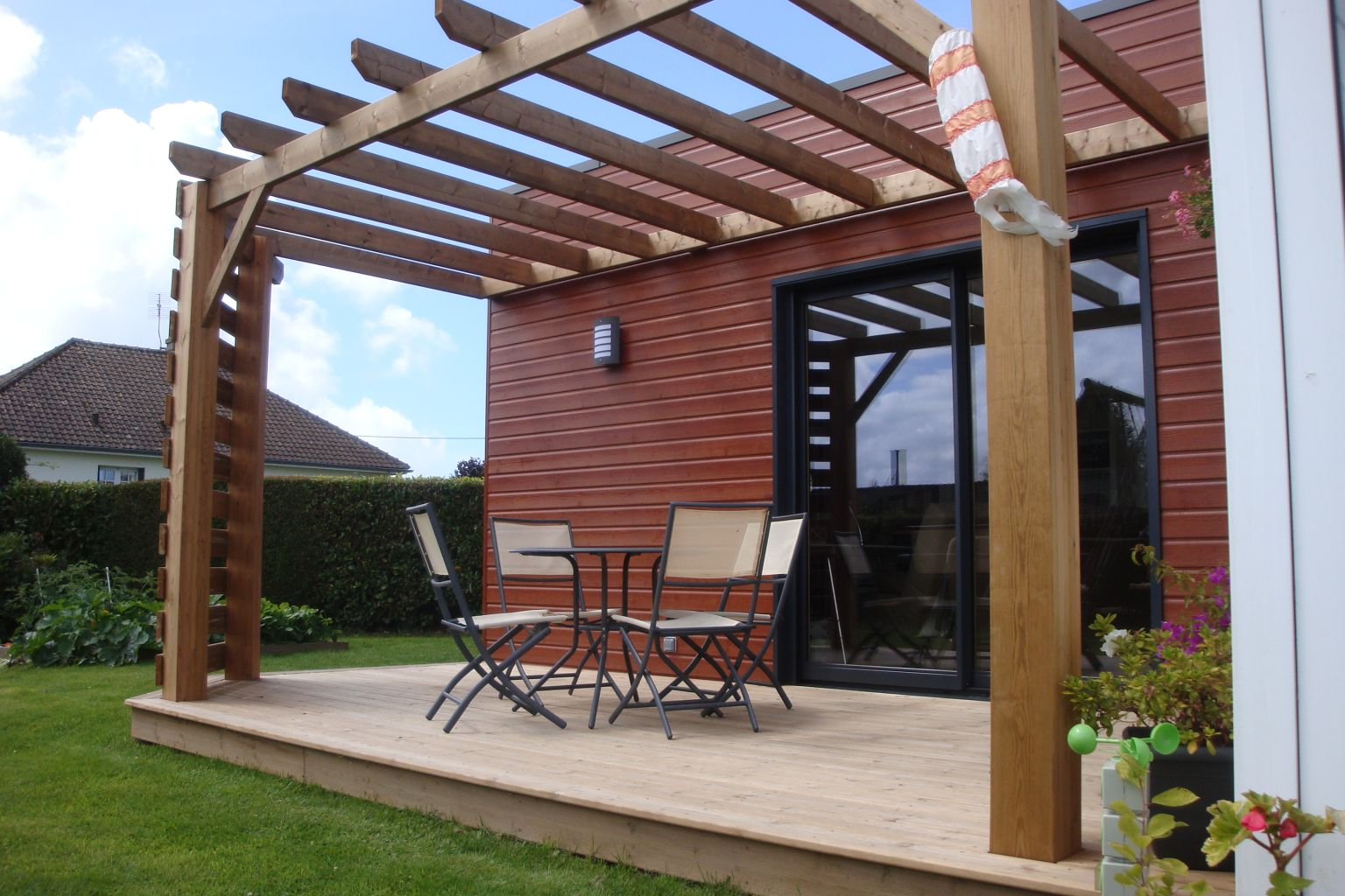 Pergolas bois for Plans de pergola