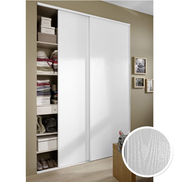 Porte coulissante dressing castorama for Miroir bricorama