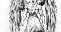Tatouage ange gardien pour homme