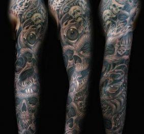 Tatouage bras homme entier