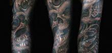 Tatouage homme bras complet