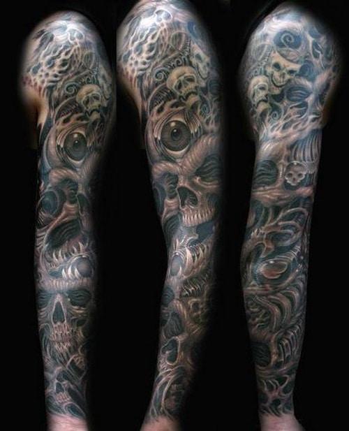 tatouage homme bras entier. Black Bedroom Furniture Sets. Home Design Ideas
