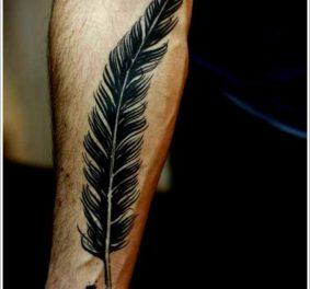 Tatouage homme plume