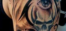 Tatouage homme tete de mort