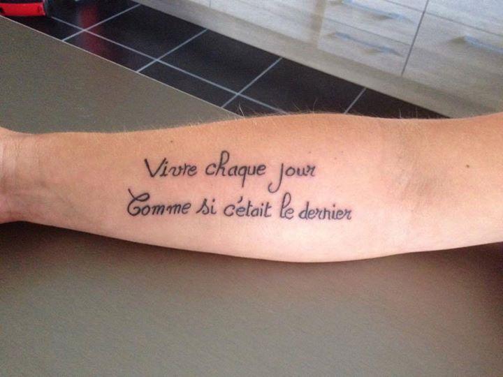 Tatouage Phrase De La Vie