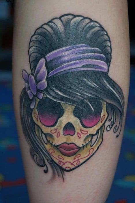 Tatouage Tete De Mort Femme