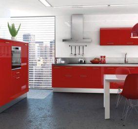 Cuisine moderne rouge