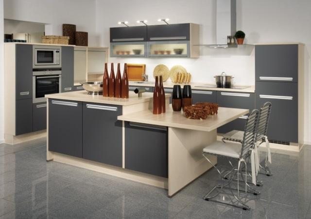 Exemple de cuisine moderne for Exemple cuisine en l