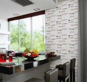 Papier peint cuisine moderne