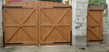 Comment fabriquer un portail en bois