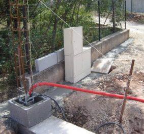 Fondation pour portail