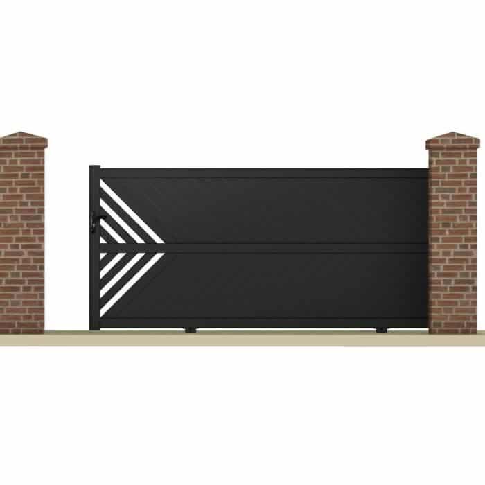 portail aluminium coulissant m. Black Bedroom Furniture Sets. Home Design Ideas