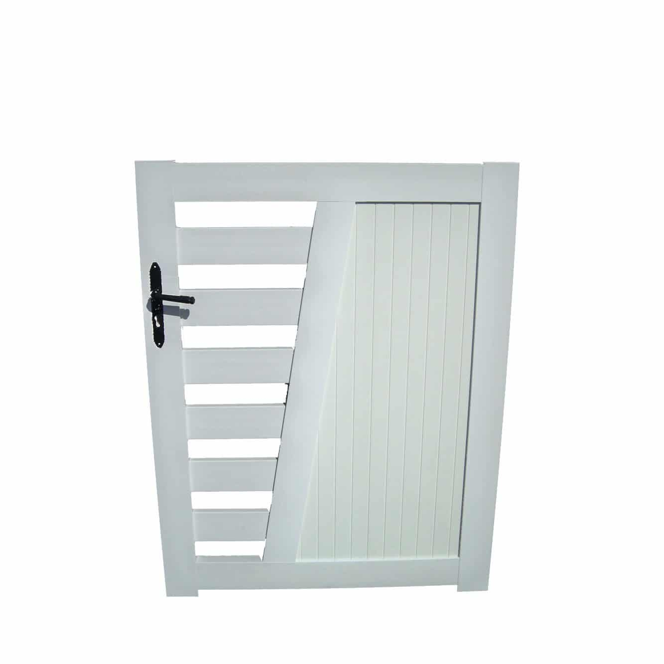 Portillon pvc blanc for Portillon de jardin largeur 1m20
