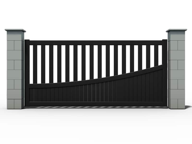 pose portail coulissant vial. Black Bedroom Furniture Sets. Home Design Ideas