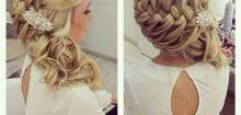 Coiffure invitée mariage cheveux long