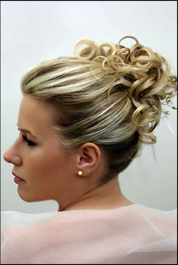Coiffure mariee chignon cheveux court