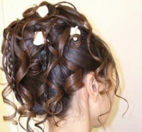 Coiffure mariage cheveux mi long chignon