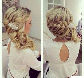 Coiffure mariage invitée cheveux longs