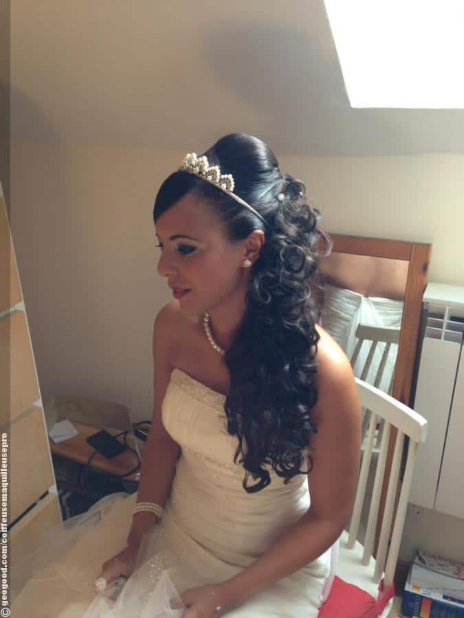 Coiffure mariage cheveux longs oriental
