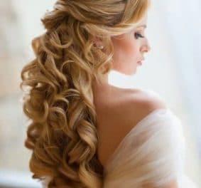 Coiffure pour un mariage cheveux long