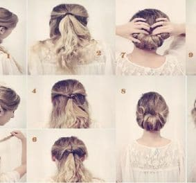 Coiffure simple mariage cheveux mi long