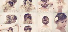 Coiffure simple pour mariage cheveux mi long