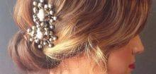 Coiffure sur cheveux court pour mariage