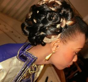 Coiffure tresse africaine pour mariage