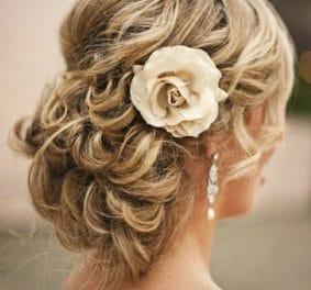 Coiffures mariage cheveux mi longs