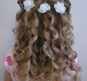 Idée coiffure petite fille pour mariage