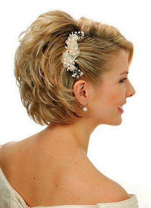 Modele de coiffure pour mariage cheveux court - Modele coiffure mariage ...