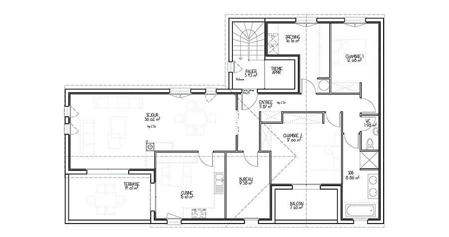 Architecture maison plan