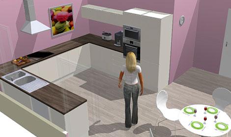 construire sa cuisine en 3d. Black Bedroom Furniture Sets. Home Design Ideas