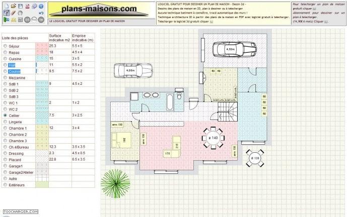 Cr er plan de maison en ligne - Creer plan de maison gratuit ...