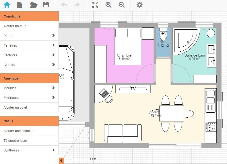 cr er son plan maison gratuit. Black Bedroom Furniture Sets. Home Design Ideas