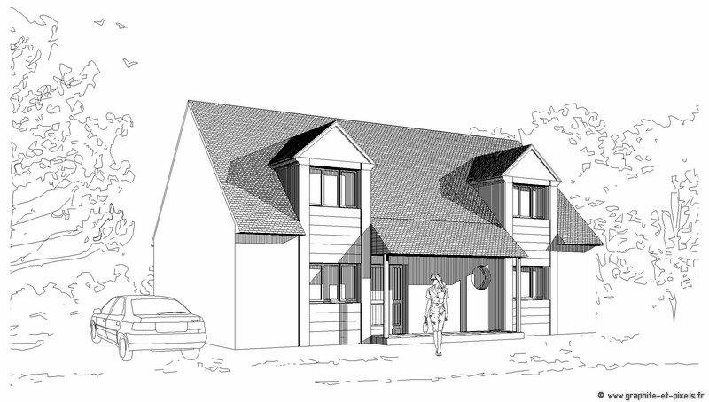 Dessin architecture maison for Dessins d architecture en ligne