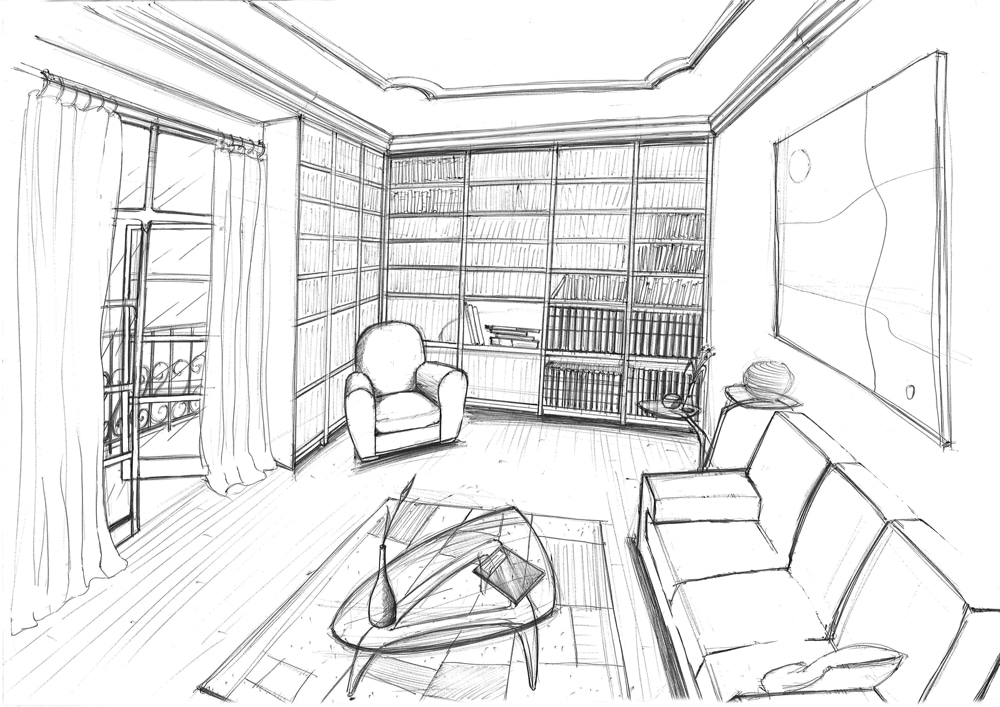 dessin d appartement. Black Bedroom Furniture Sets. Home Design Ideas