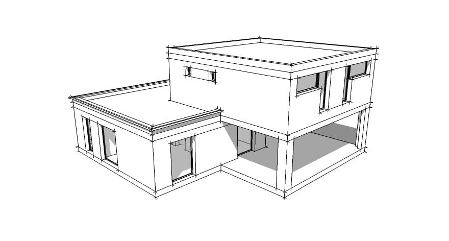 Dessin maison architecte ventana blog for Dessin 3d maison